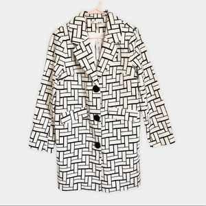 🆕 WDNY Black & White Mod Block Oversized Blazer M
